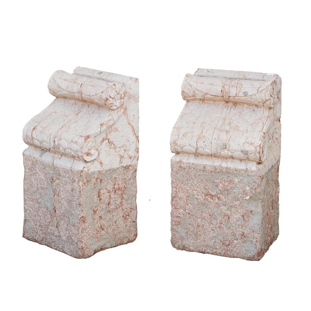 COPPIA MENSOLE in marmo rosso di Verona