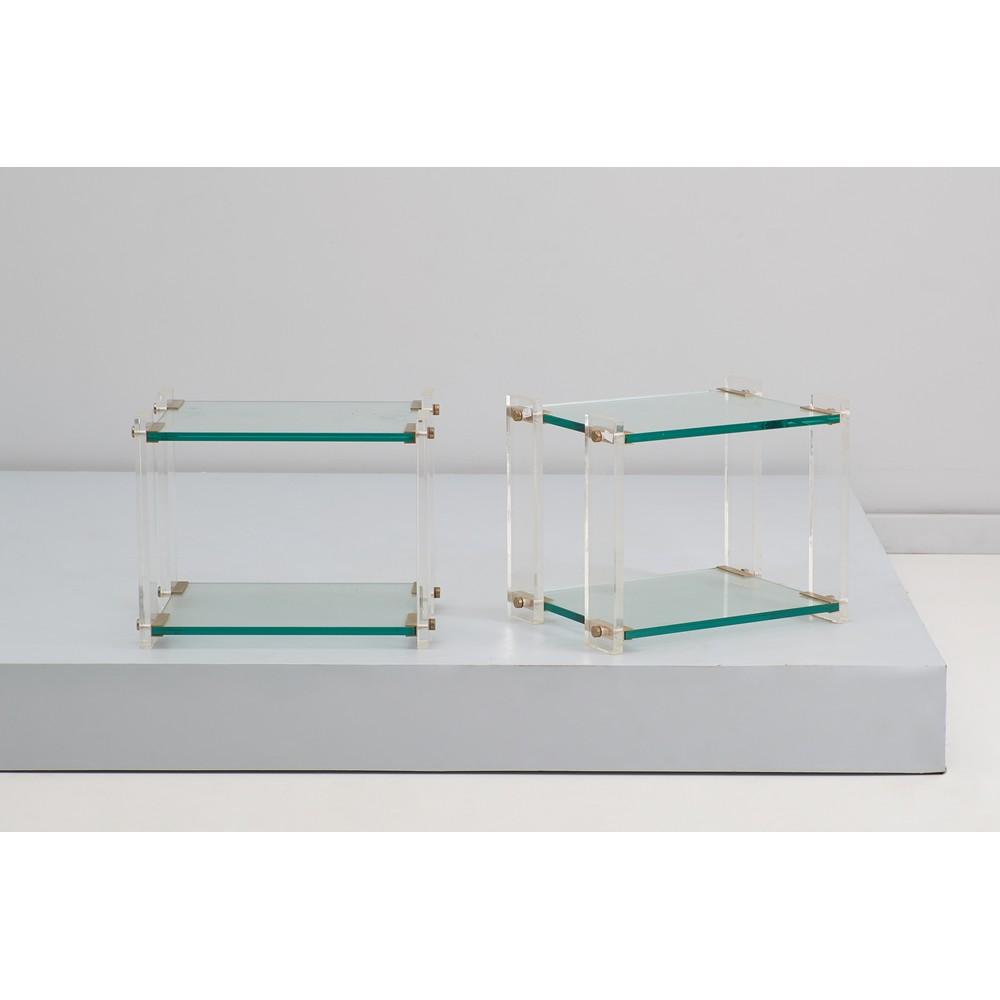 FABBIAN (Attr.le) Due tavoli bassi in plexiglass