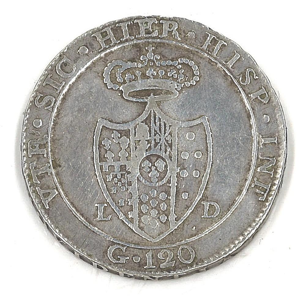 NAPOLI - FERDINANDO IV - 1805 Piastra - Image 2 of 2