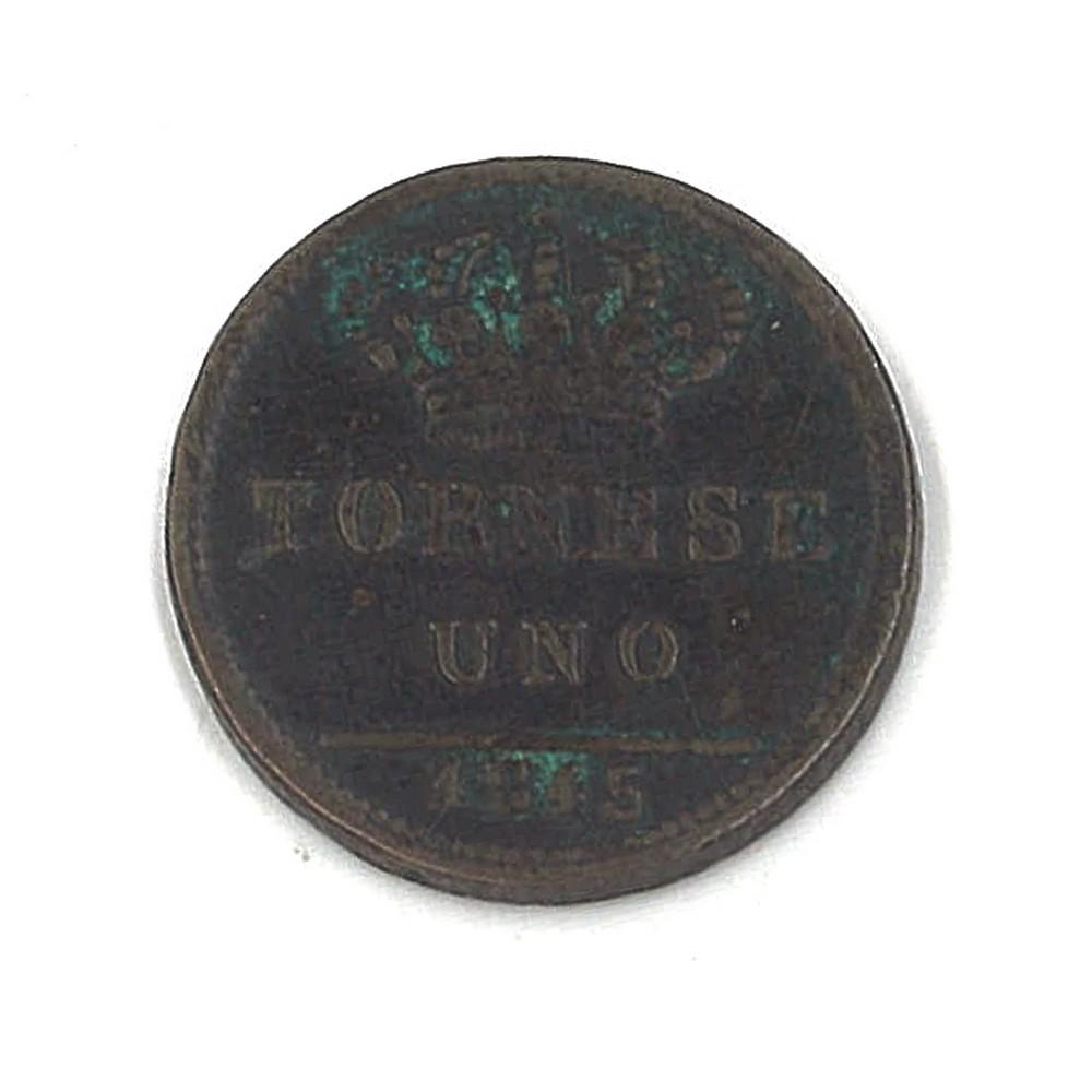 REGNO DUE SICILIE - FERDINANDO II - 1845 Tornese rame - Image 2 of 2