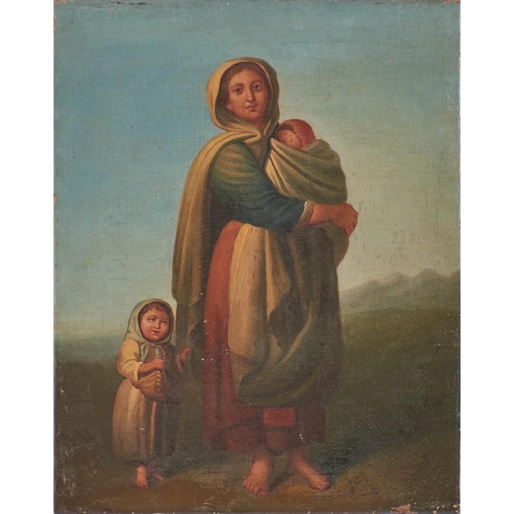 SCUOLA ITALIANA DEL XIX SECOLO Coppia di oli su tela - Image 2 of 2