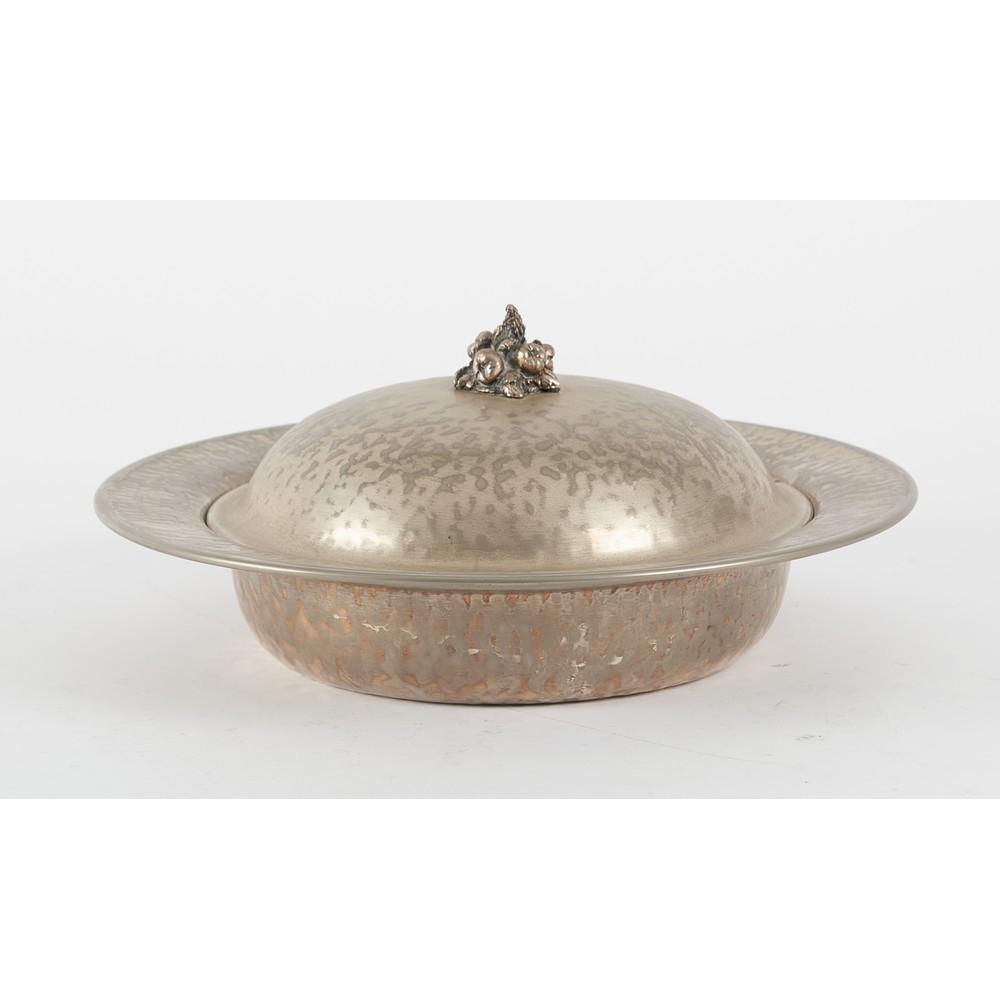 LEGUMIERA in silver plated firmata Cassetti