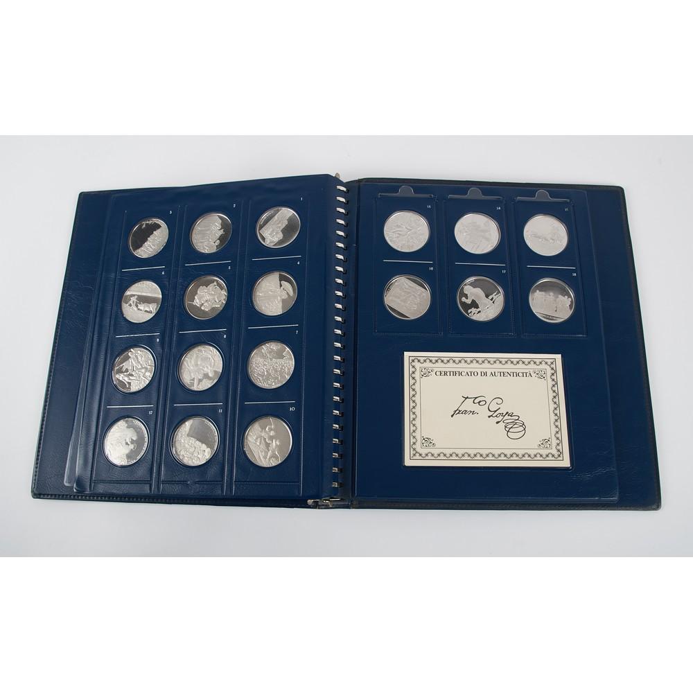 GOYA - Collezione di 18 medaglie in argento 925/1000 - Image 2 of 2