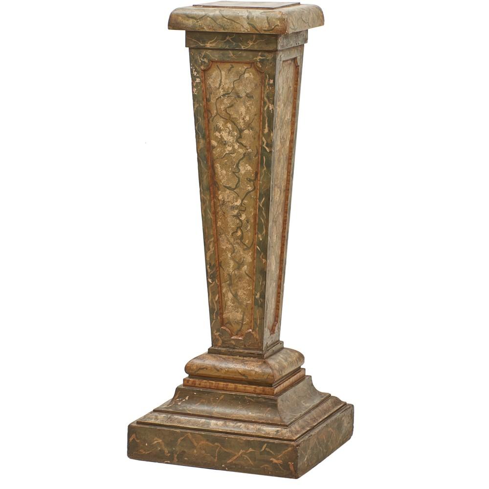 CANTONE in legno laccato a finto marmo