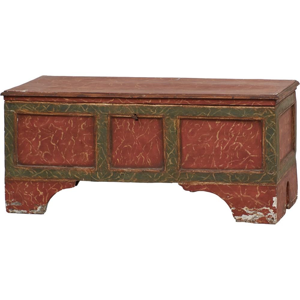 CASSAPANCA in legno laccato a finto marmo