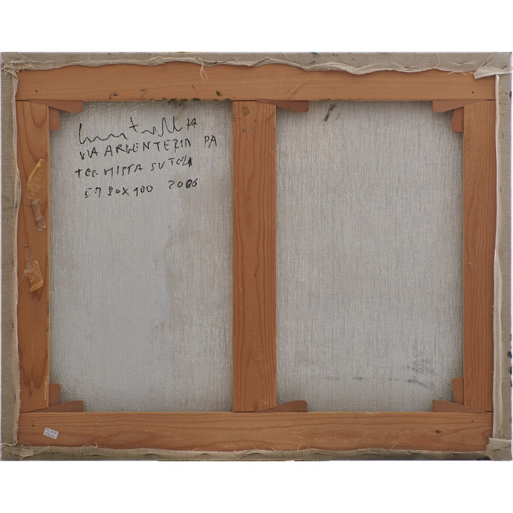 CROCE TARAVELLA Olio e acrilico su tela - Image 2 of 2