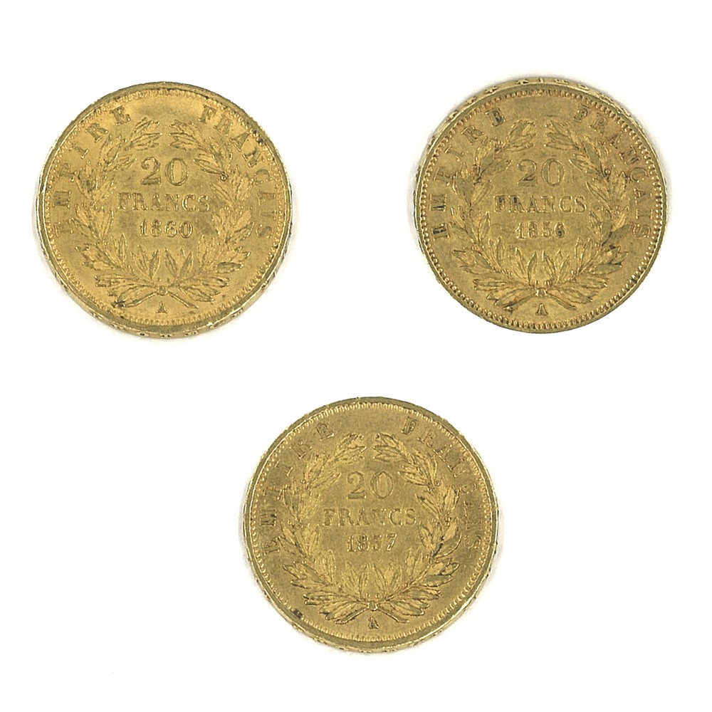 FRANCIA - 1856/57/60 20 Franchi oro - Image 2 of 2