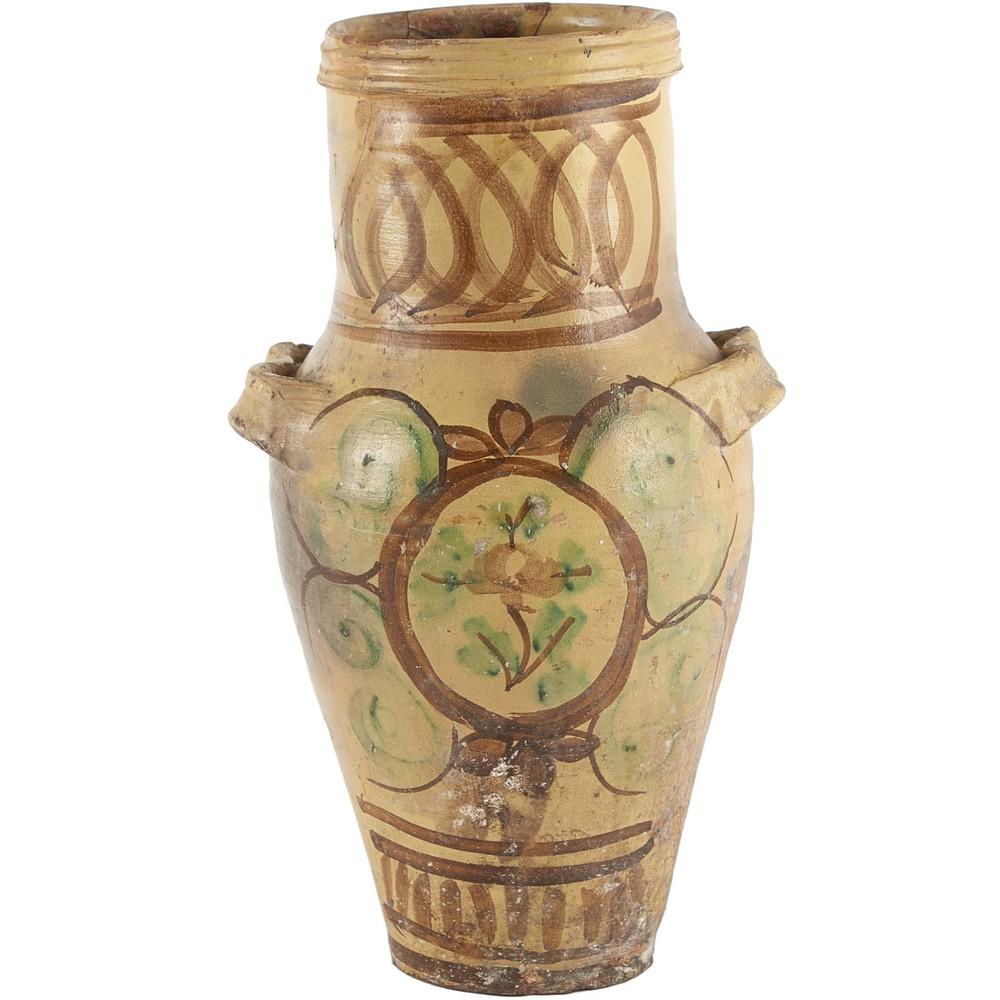 QUARTARA in ceramica smaltata e decorata