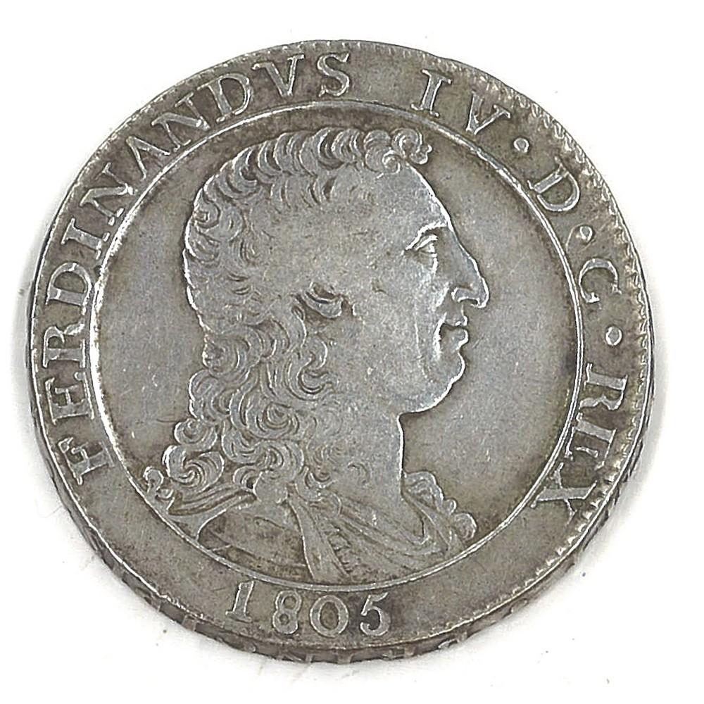 NAPOLI - FERDINANDO IV - 1805 Piastra