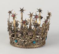 Spezielle Silberkrone, 925/000, wunderschön verziert mit einer gedrehten Kante, kunstvollen Blumen