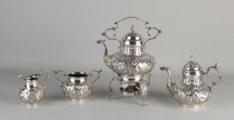 Antikes Silbergeschirr, 800/000, 5 Stück, mit Kaffee-, Tee- und Milchkännchen und einer Zuckerdos