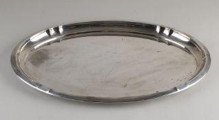 Silber ovale Schale, BWG, ovales Modell mit 4 Vertiefungen in der erhöhten Kante.47 x 32 x 2,5 c