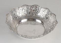 Silver cake bowl
