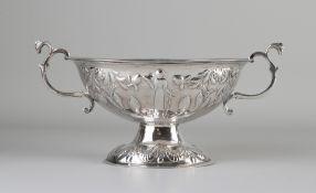 Silver brandy bowl, 1857