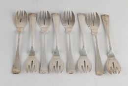 Silver fish forks