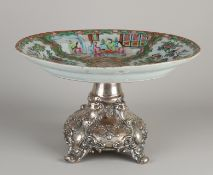 Chinese bowl on a silver base