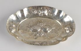Silver bowl of fruit