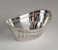 Silver bonbon basket