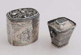 2 Silver loderein box