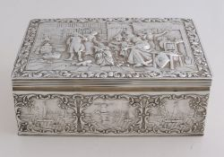Silver biscuit tin