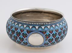 Silver bowl with enamel, Russian