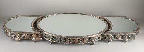 3-piece silver table piece