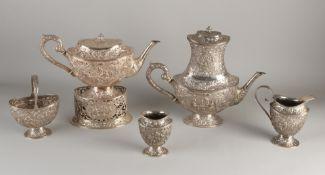 Silver tableware, 6 pieces