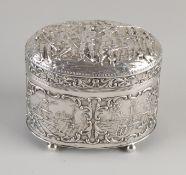 Silver tea box