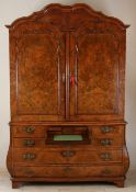 Rare Dutch writing cabinet, 1760
