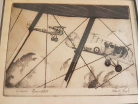 Christmas Card of Gloster Gauntlets Biplanes