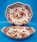 Masons Brown Velvet Serving Dishes (2 pieces)