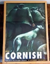 Framed Norman Cornish Exhibition Poster for Newcastle Polytechnic from 1992