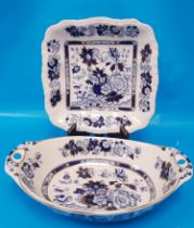 Masons Sapphire Serving Dishes (2 pieces)