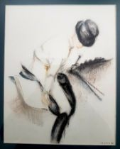 Judith B Jenkins Framed Pastel of Horse and Female Rider, dated 2011