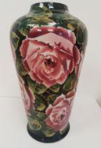 Stunning Large 1910 Antique Wemyss Vase in Cabbage Rose Design, 33cm in height