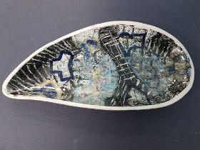 Rare Prudhoe Pottery Glazed Ceramic Dish