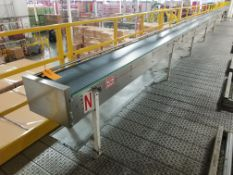 Europool Stainless Steel 17 inch wide matte top case conveyor - Third level (Manual Pick System A)