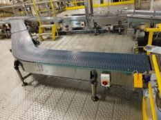 Europool Case Conveyor from Manual Pick B System - Discharge of Spiral to Case Switch
