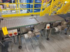 Case Conveyor from Discharge of Combiner to Infeed of Mini-Load Station