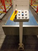 Europool Stainless Steel Dual Lane 17 inch wide matte top case conveyor - Second level (Manual Pick