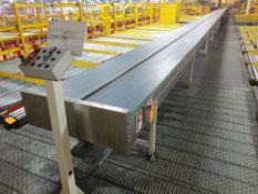 Europool Stainless Steel Dual Lane 17 inch wide matte top case conveyor - Third level (Manual Pick S