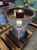 CONQUEST INDUSTRIES VIBRATORY FINISHING MACHINE, MODEL DM-C150, 2 CU. FT., 220V, 3 PHASE