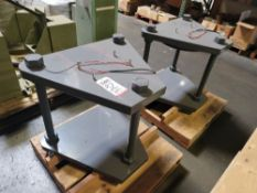 LOT - (2) HEAVY DUTY STANDS