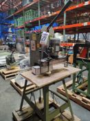 13-SPINDLE LINE BORER ON STAND