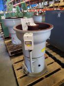 CONQUEST INDUSTRIES VIBRATORY FINISHING MACHINE, MODEL DM-C125, 1 CU. FT., 220V, 3 PHASE