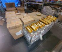 LOT - (2) PALLETS OF ALUMINUM SCRAP, PLUS CART OF DIVI-CHARGE MARINE BATTERY ISOLATORS, INCLUDES