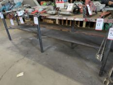 STEEL TABLE, 10' X 14', ROTARY VISE