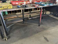 STEEL TABLE, 10' X 14'