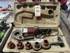 RIDGID 600 POWER DRIVE PIPE THREADING MACHINE, W/ CASE