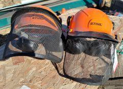 LOT - (2) STIHL SAW HELMETS, W/ EAR PROTECTION